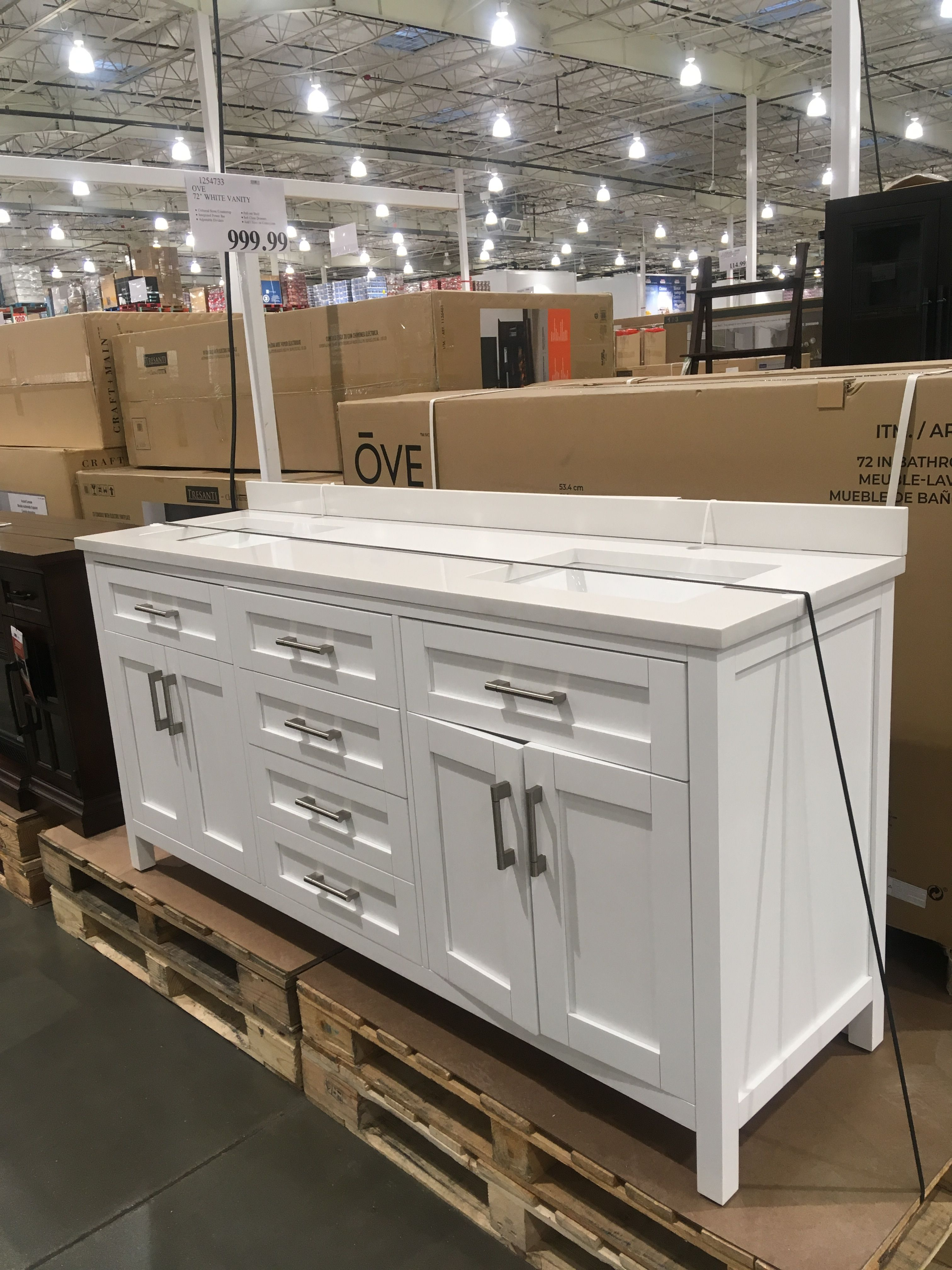 72 Double Vanity At Costco For 999 Includes Sinks And Countertop