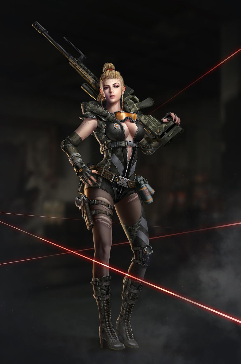 Female Sniper Art Google Search Sniper Girl Fantasy Female Warrior Warrior Woman