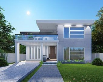 40 Foot Shipping Container Home Full Construction House Etsy Modern Exterior House Designs Modern Style House Plans Modern House Exterior