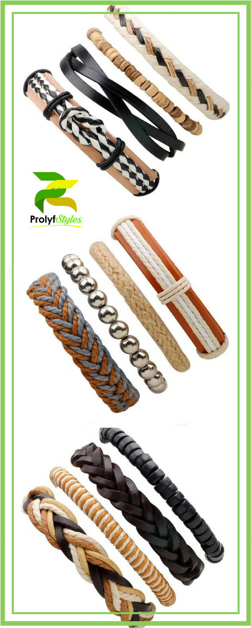 Piece leather friendship bracelet bracelets for men u women