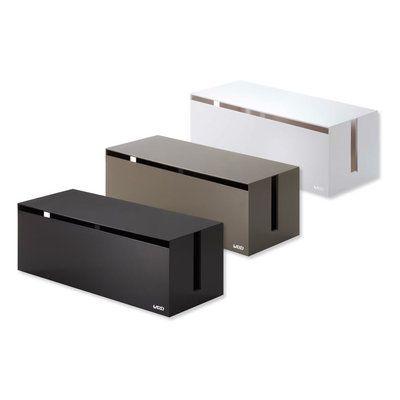 Boite Pour Ranger Et Cacher Les Cables Et Fils Electriques Web Cable Box Design Yamazaki Japon Cache Fil Electrique Idee Deco Appartement Cacher Fils