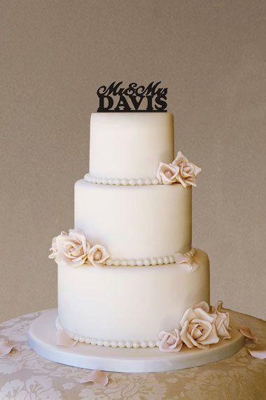 #hochzeit #cake topper acryl- nachname   – wedding cake