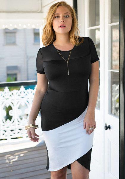 Jcp rose black and white asymmetrical dress up women