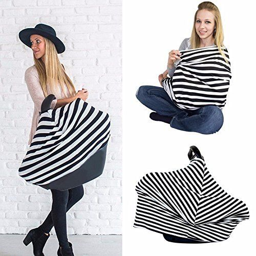 9398f1890654f breastfeeding cover - Baby Nursing Cover Wearable Breastfeeding Scarf  Cotton Breathable and Stretchy Baby Seat Cover/ Canopy for Car Shopping  Cart Stroller ...