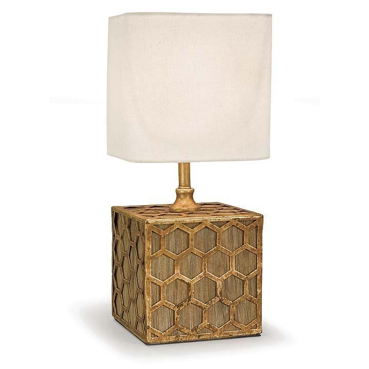 Regina Andrew Design Gold Honeycomb Mini Table Lamp Andrew gold