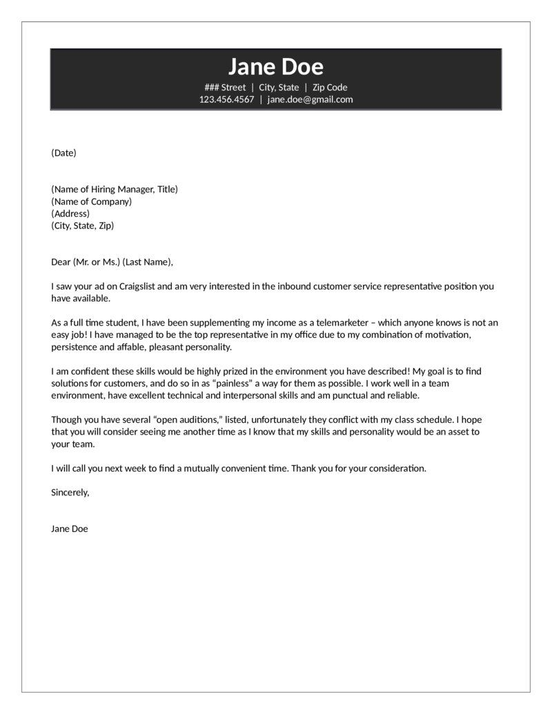 23 Cover Letter For Customer Service Job Cover Letter Examples