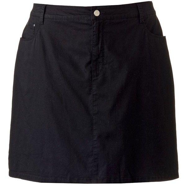 Plus Size Croft & Barrow® Classic Fit Twill Skort, Women's, Size: 18