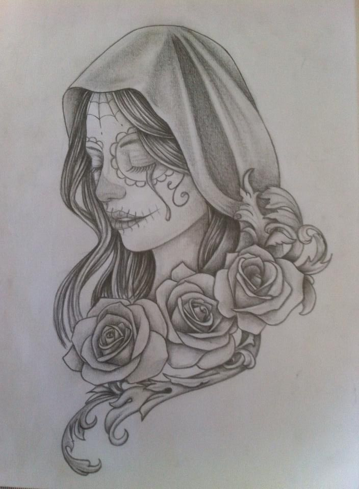 Id e tattoo santa muerte par elo adink dangerus pinterest santa muerte tattoo and tatting - Santa muerte signification ...