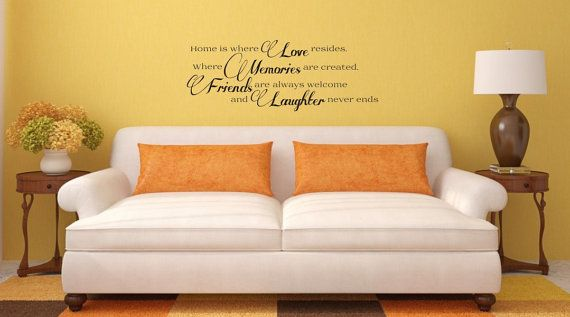 LOVE, MEMORIES, FRIENDS and Laughter wall decor decal, custom home decor, art, vinyl decal.