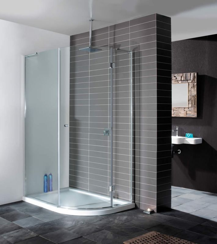Contemporary Minimal Enclosure From Simpsons Grey Tile Modern Bathroom Simpsons Desig Bathroom Shower Design Bathroom Inspiration Modern Shower Enclosure