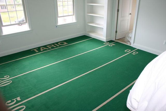 Football Field Carpeting In A House Installed By Atc Football
