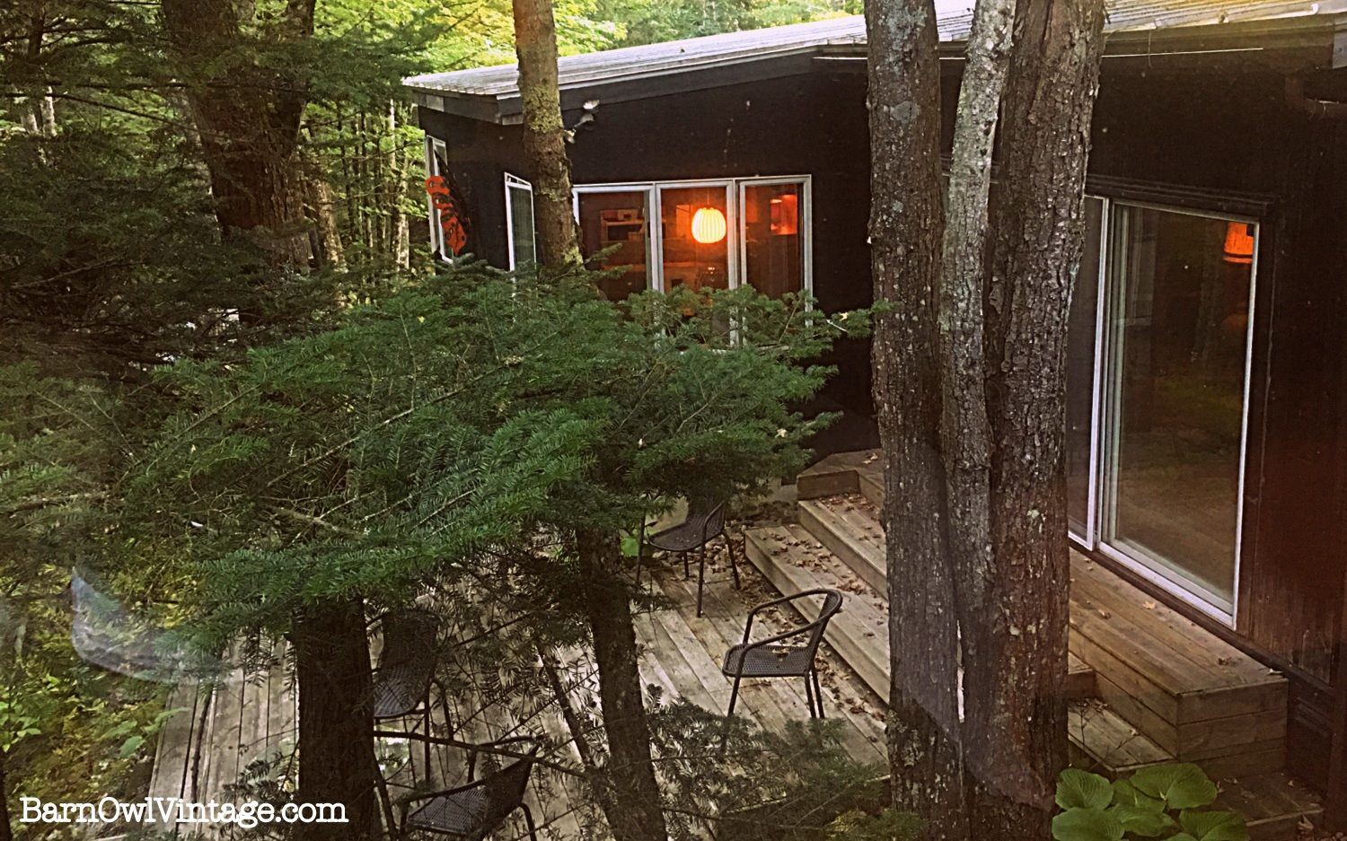Untouched: Mid-Century Modern Home in Vermont. Take a peek inside this warm and cozy 1960s time capsule full of character and charm. A partial view of the back deck