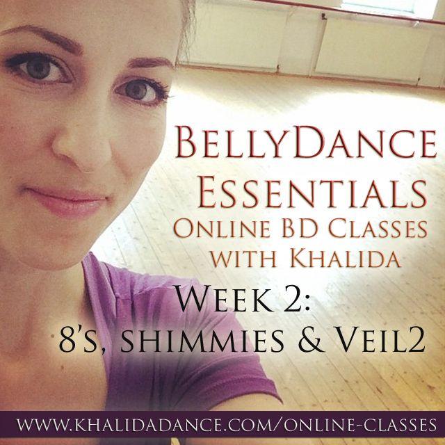 Bellydance Essentials Online - Week 2 - Dance classes at home with Khalida!
