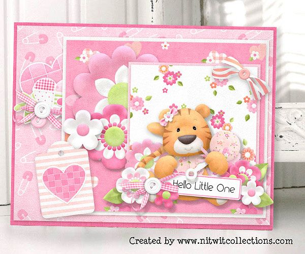 The cutest baby girl card to send to your newest addition to your