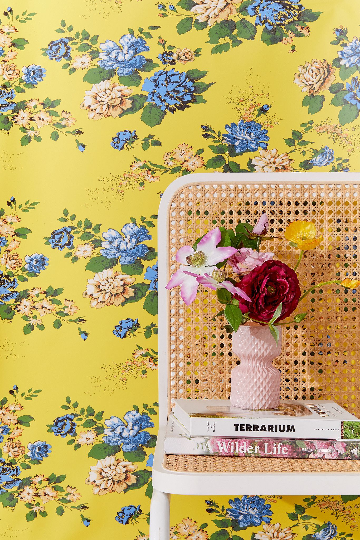 Petra Floral Removable Wallpaper Urban Outfitters Uk In 2020 Removable Wallpaper Stick On Wallpaper Urban Outfitters Wallpaper