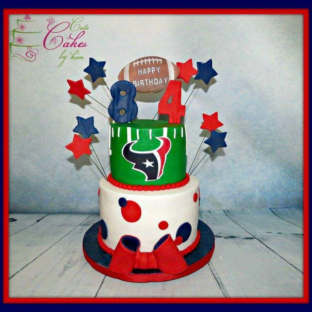 Houston Texans Birthday Cake Created By Cute Cakes By Kim Cute