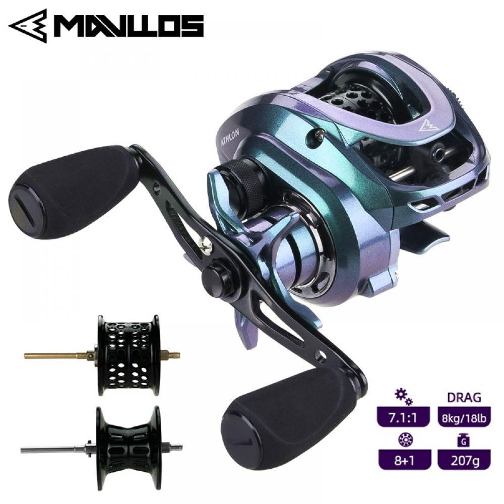 Mavllos Athlon Ultra Light Bfs Bait Casting Metal Spool Fishing Reel Fishing Reels Athlon Saltwater Fishing Rods