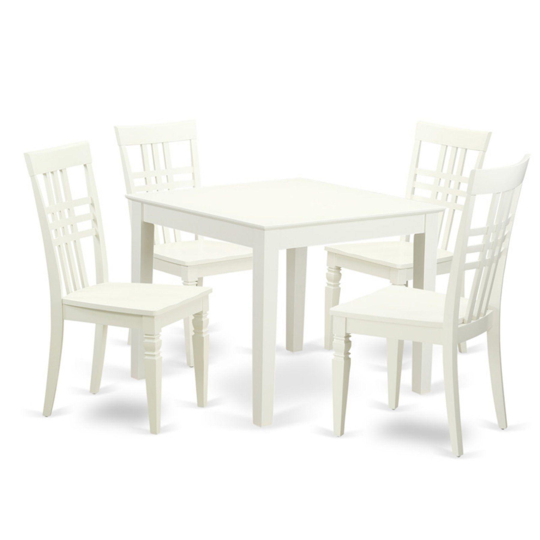 East West Furniture 5 Piece Triple Crossback Breakfast Nook Dining ...