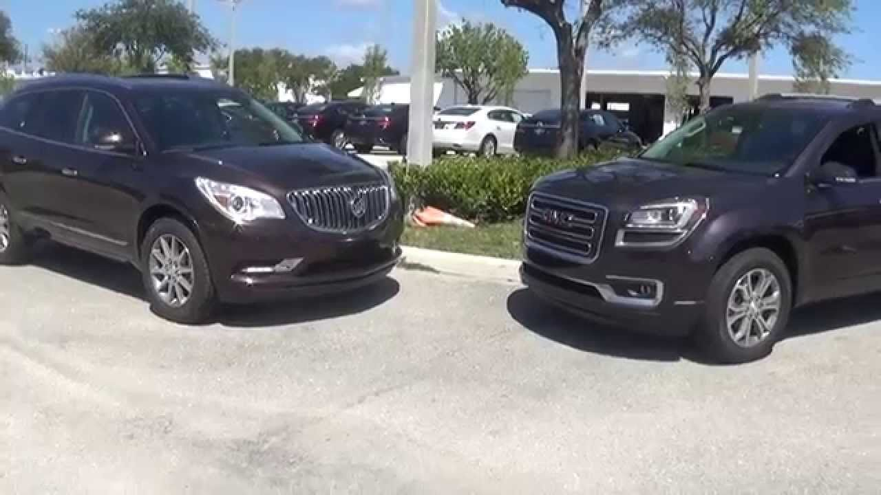 David Buick Enclave Versus Gmc Acadia Buick Enclave Gmc Buick