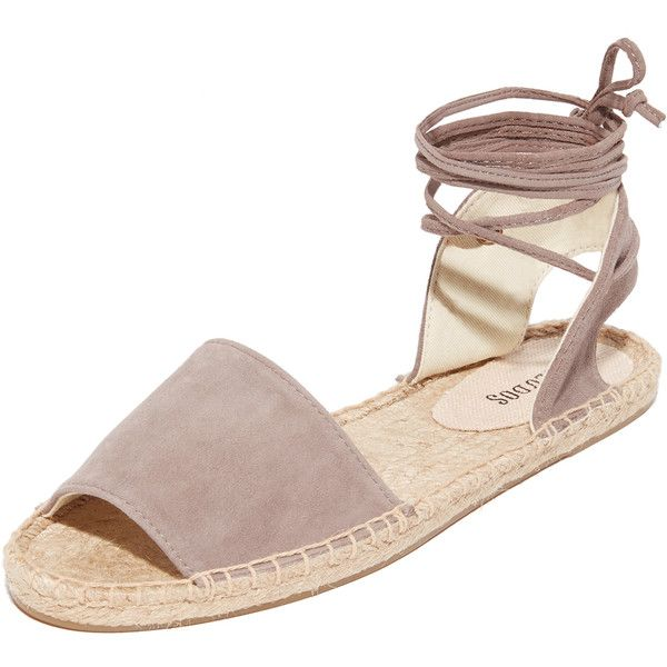 Soludos Balearic Tie Up Sandals featuring polyvore, women's fashion, shoes,  sandals, dove