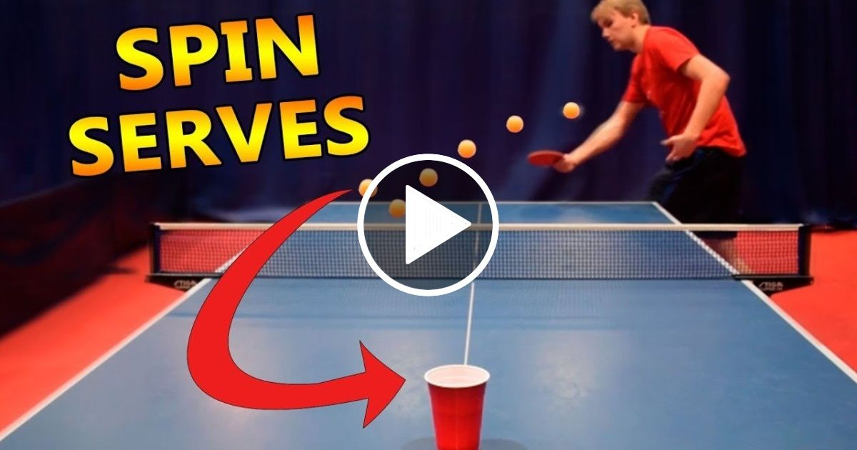 Table Tennis Spin Serves I Challenge Pongfinity Ep 11 Sport Report Videos Table Tennis Tennis Videos Tennis