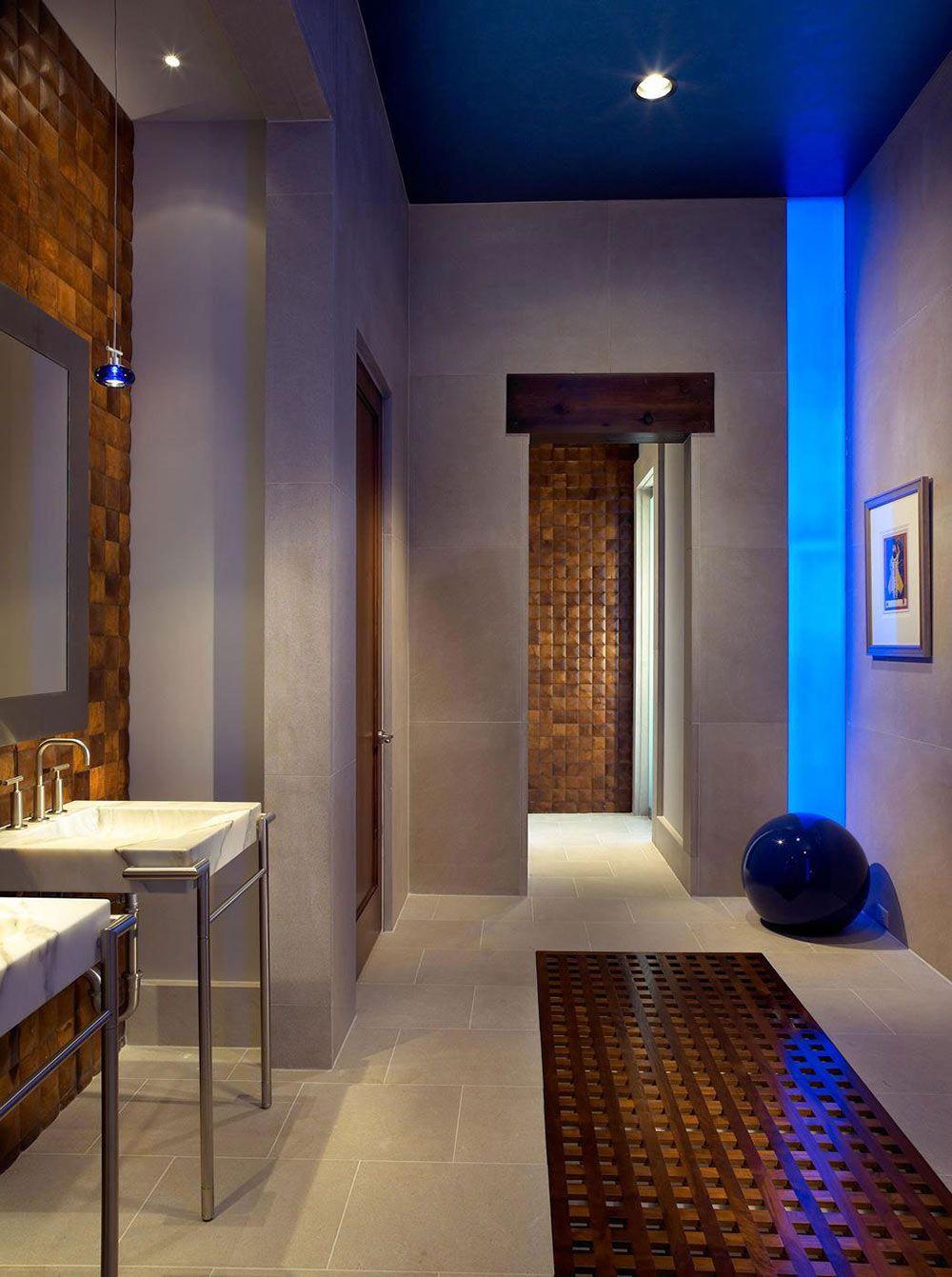 Marble sink bathroom pool house