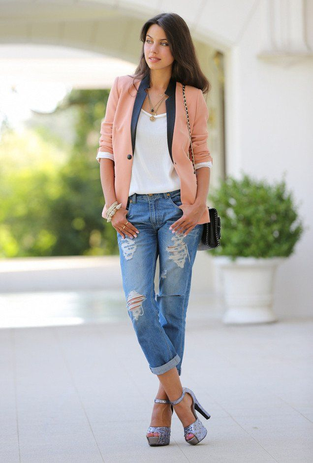 17 Best Denim Outfit Ideas for Women | Blazers Effortless chic and Women fashion casual