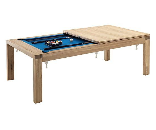 Mesa billar de comedor en madera de roble karambola for Mesa salon roble