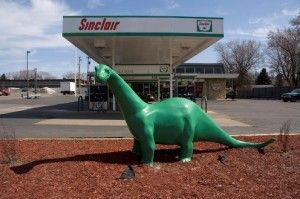 sinclair-dinosaur-mascot... I still want one of these in my front yard.  My Landlord might see it differently however...