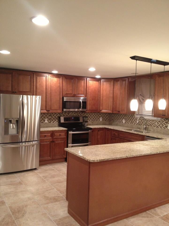 Best Another Sienna Kitchen All Wood Cabinets Are In Stock 400 x 300