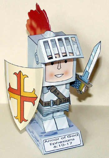 The Armor of God: download a free PDF of the model in A4 or