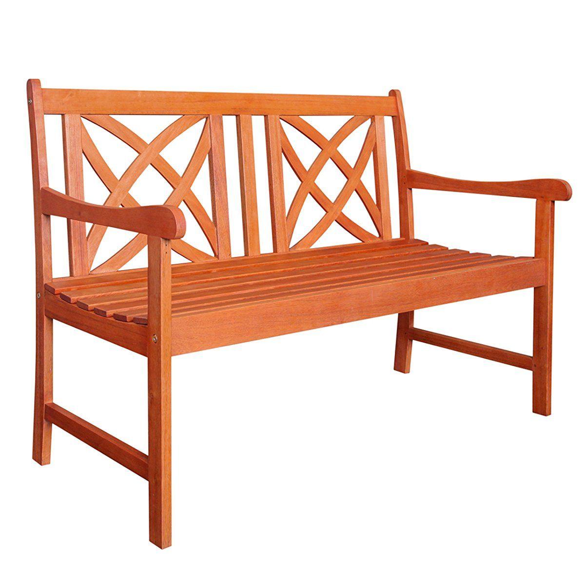 Vifah V1493 Outdoor Wood Garden Bench 4 Feet Decoracao