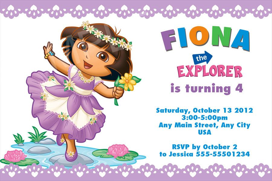 Dora The Explorer Invitation Templates Free
