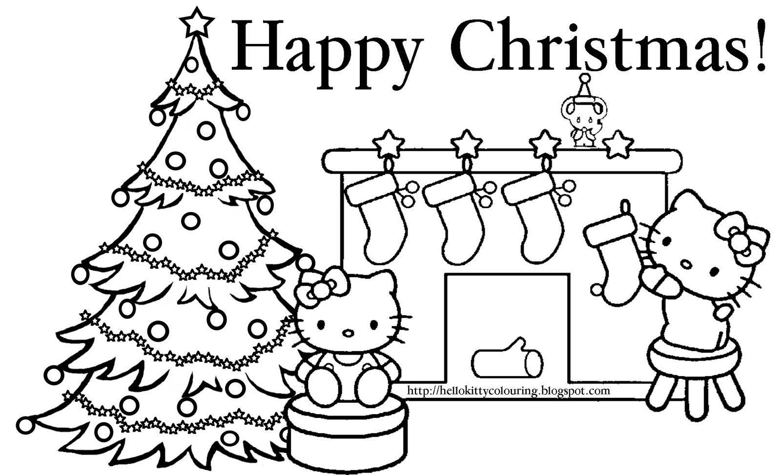 Hello Kitty Coloring Pages Christmas Pinterest Hello Kitty