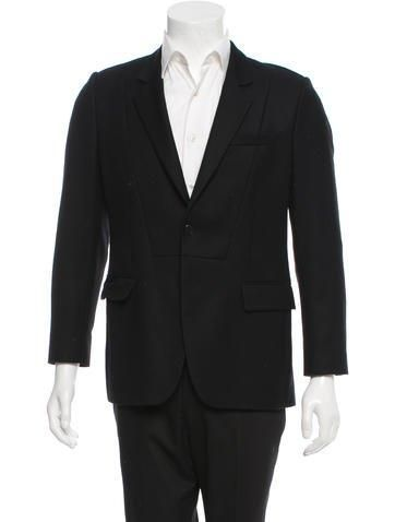 #BFCM #CyberMonday #The RealReal - #Givenchy Givenchy Virgin Wool Two-Button Blazer - AdoreWe.com