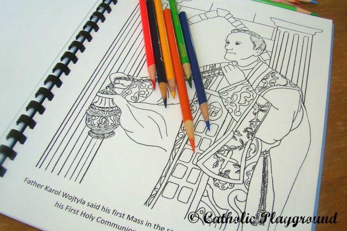 Pope Saint John Paul II coloring book | + Coloring Pages + ...