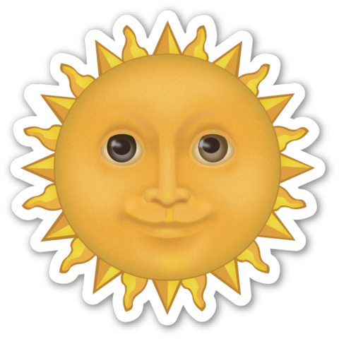 Sun With Face Por Do Sol Capa Do Celular Adesivos Tumblr