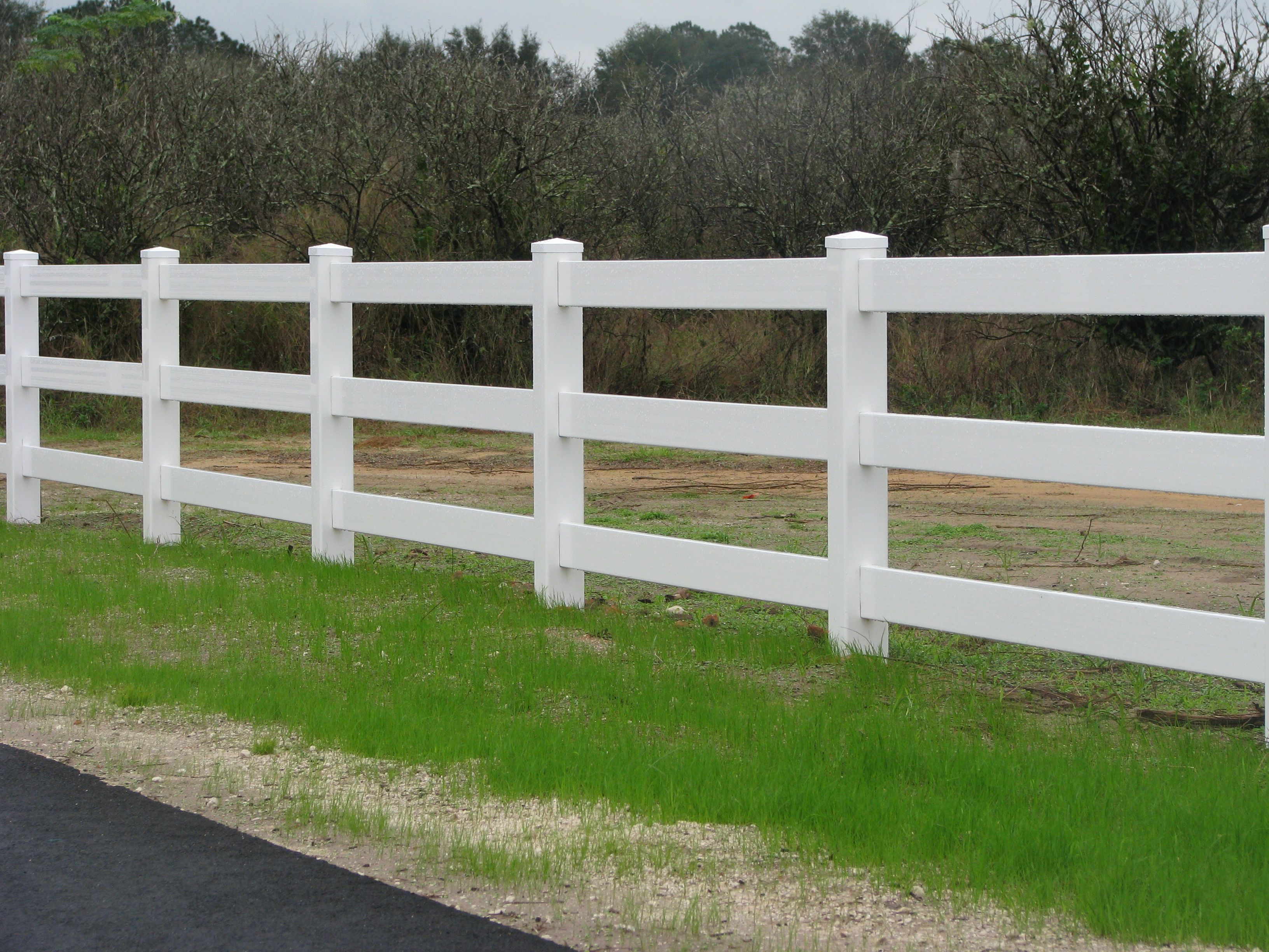 Vinyl Fence Designs 3 Rail Ranch Designed By Mossy Oak Company