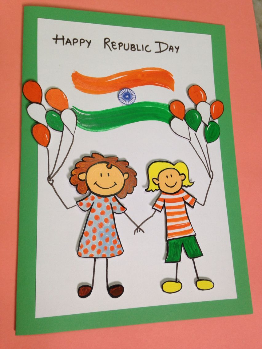 Handmade greeting card for republic day also cards rh pinterest