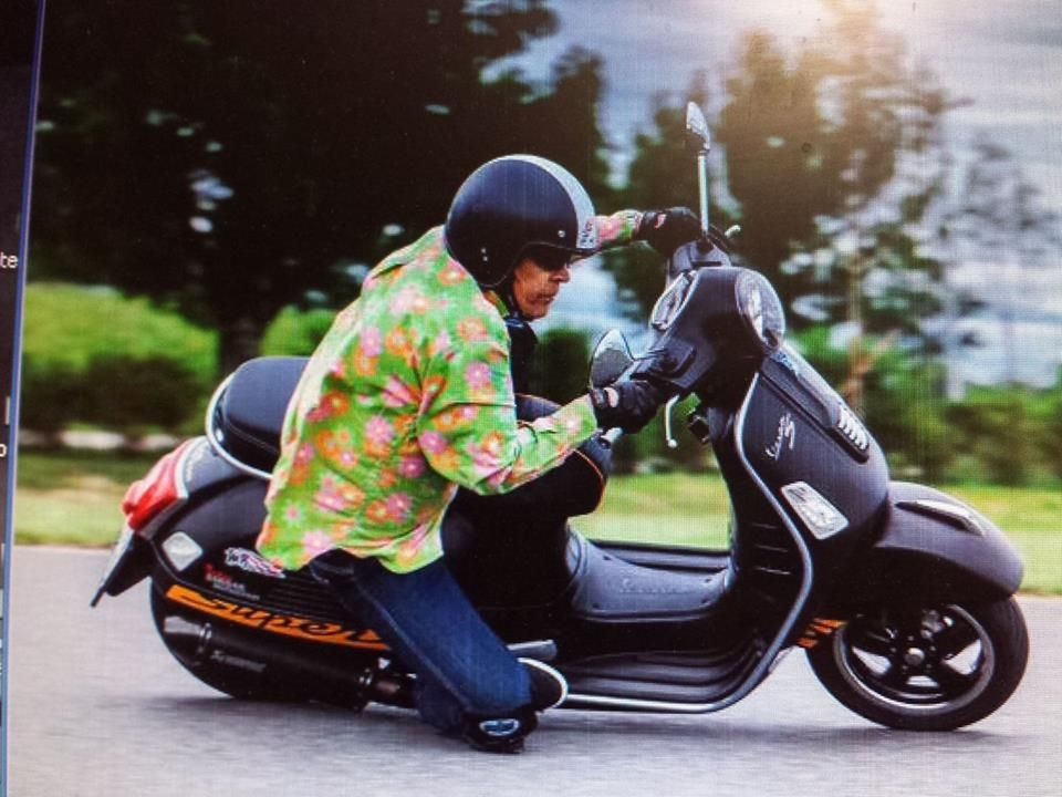 image may contain one or more people people sitting motorcycle rh pinterest com