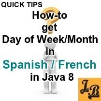 Java 8 - How to Day of Week, Month in Spanish, French for