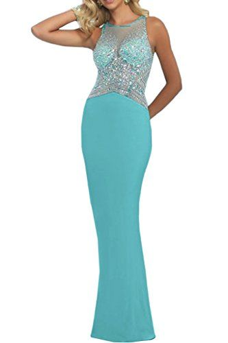 Gorgeous Bridal Mermaid Scoop Rhinestones Prom Evening Wedding Guest Dresses US Size 24W *** You can get more details by clicking on the image.