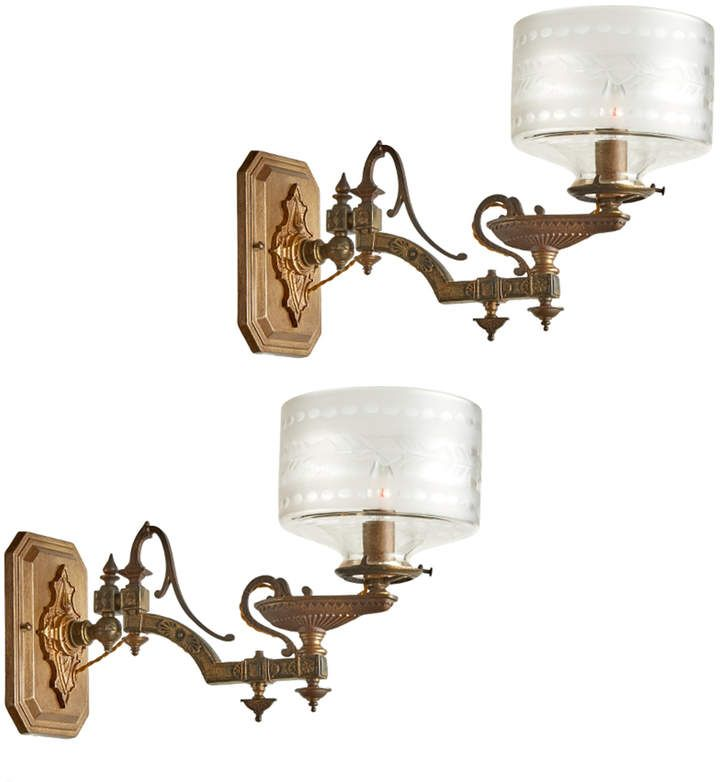 Rejuvenation Pair Of Incredible Cast Bronze Genie S Lamp Wall