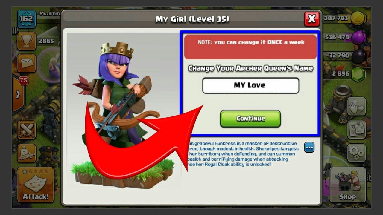 Changeable Hero Name New Flags Clash Of Clans Upcoming Update Leaks Clash Of Clans Archer Queen Hero