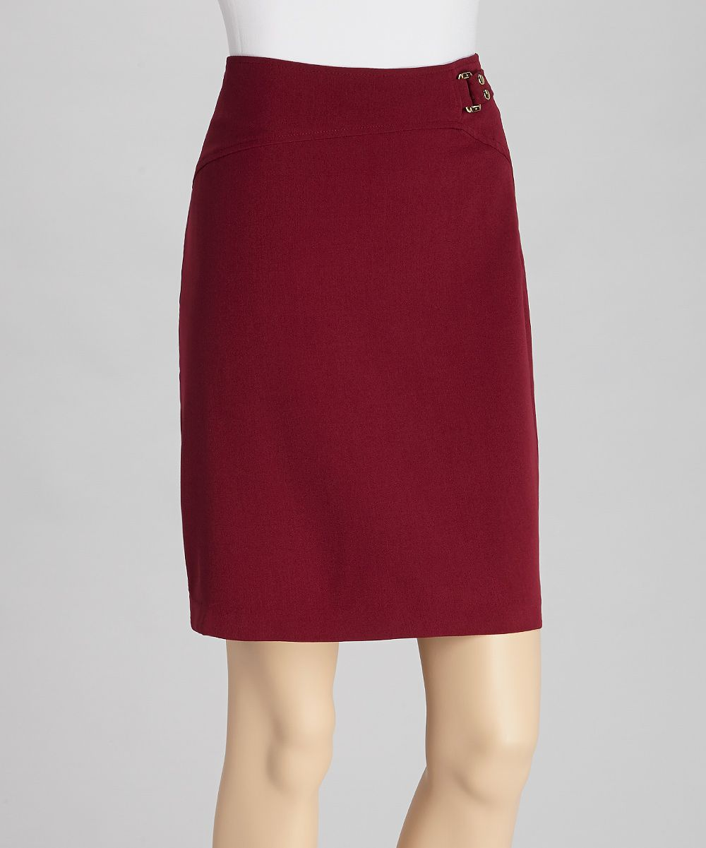Rhuarb Crepe Skirt