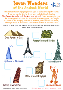 The Great Pyramid of The Seven Wonders of the World Essay   Bartleby