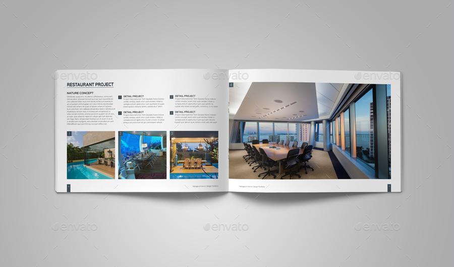 Interior Design Portfolio Template Ad Design Sponsored Interior Template Portfol In 2020 Portfolio Template Design Portfolio Design Interior Design Portfolio