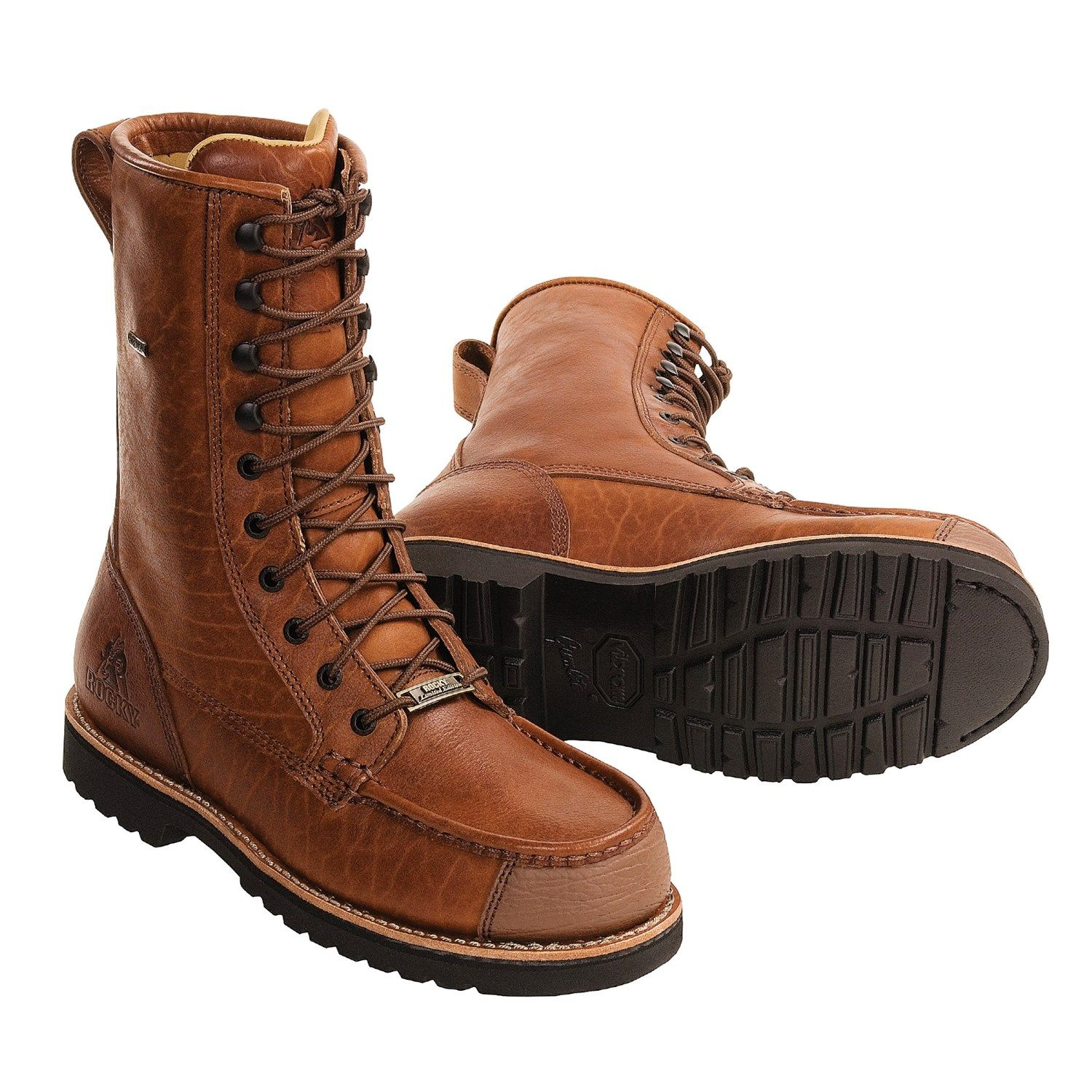 Rocky Shoes & Boots Gore-Tex® Upland Hunting Boots - Waterproof, Bison  Leather