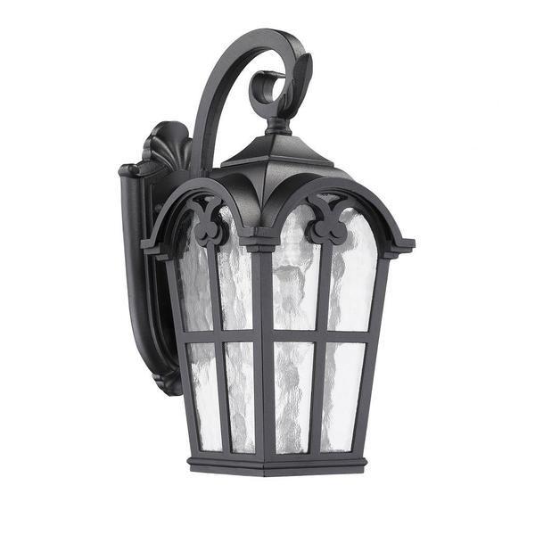 Transitonal 1-light Black Outdoor Clear-glass Wall Light Fixture - Overstock™ Shopping - Big Discounts on Wall Lighting