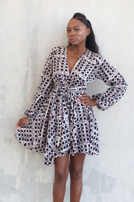 Dashki Fabric African Fashion Ankara Kitenge African: THE AMA Dress In Indigo Linen African Prints, African